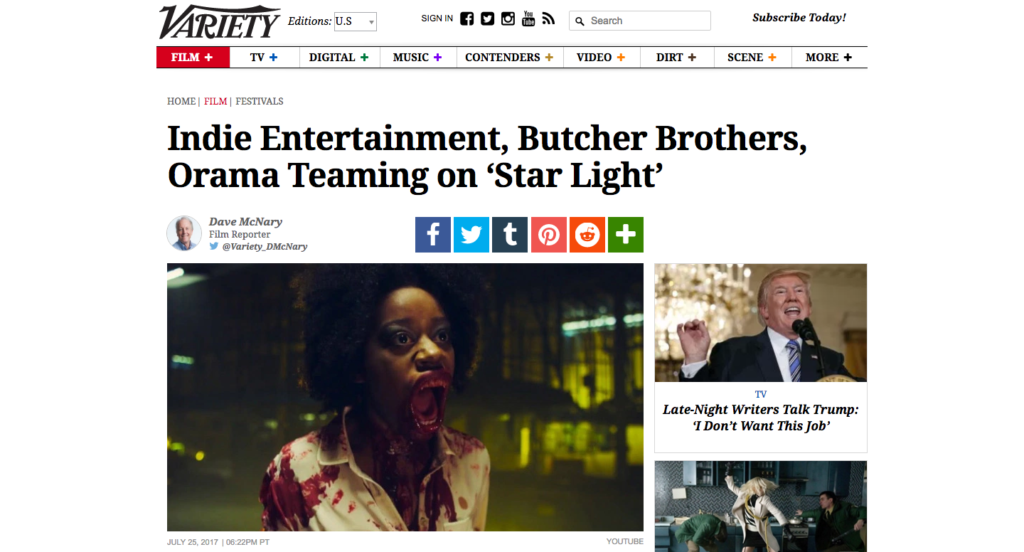 Variety.com Press - Orama Film Works